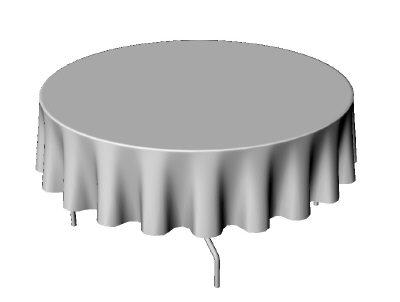 90u0027u0027 Round Tablecloth